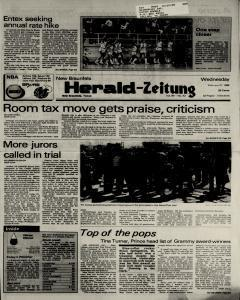 New Braunfels Herald Zeitung, February 27, 1985, Page 1