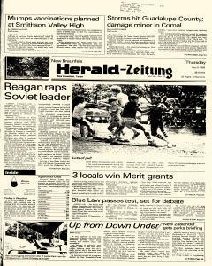 New Braunfels Herald Zeitung, May 09, 1985, Page 1
