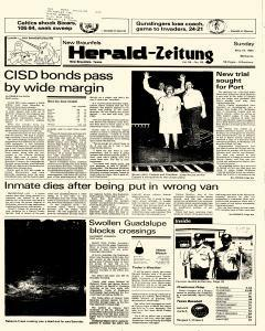 New Braunfels Herald Zeitung, May 19, 1985, Page 1