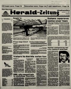 New Braunfels Herald Zeitung, January 14, 1987, Page 1