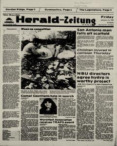 New Braunfels Herald Zeitung, January 16, 1987, Page 1