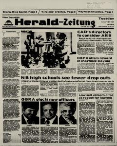 New Braunfels Herald Zeitung, January 20, 1987, Page 1