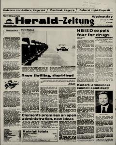 New Braunfels Herald Zeitung, January 21, 1987, Page 1