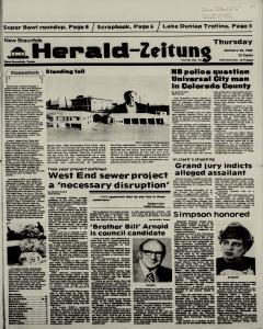 New Braunfels Herald Zeitung, January 22, 1987, Page 1