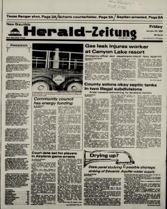 New Braunfels Herald Zeitung, January 23, 1987, Page 1