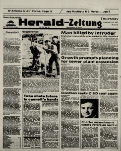 New Braunfels Herald Zeitung, February 12, 1987, Page 1