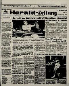 New Braunfels Herald Zeitung, February 19, 1987, Page 1