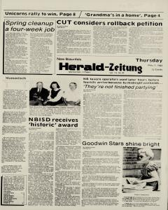 New Braunfels Herald Zeitung, May 07, 1987, Page 1