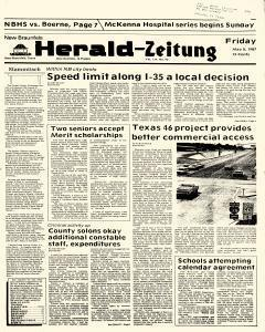 New Braunfels Herald Zeitung, May 08, 1987, Page 1