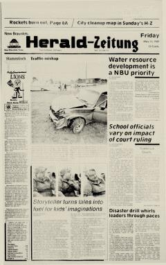 New Braunfels Herald Zeitung, May 15, 1987, Page 1