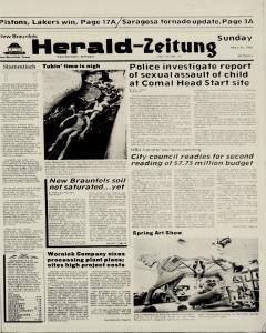 New Braunfels Herald Zeitung, May 24, 1987, Page 1