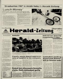 New Braunfels Herald Zeitung, May 28, 1987, Page 1