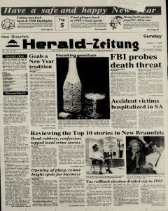 New Braunfels Herald Zeitung, January 01, 1989, Page 1