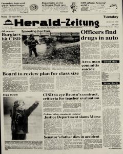 New Braunfels Herald Zeitung, January 17, 1989, Page 1