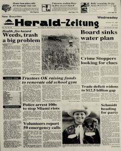 New Braunfels Herald Zeitung, January 18, 1989, Page 1