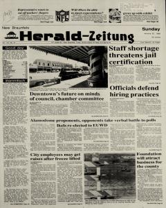 New Braunfels Herald Zeitung, January 22, 1989, Page 1