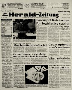 New Braunfels Herald Zeitung, January 25, 1989, Page 1