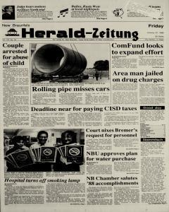 New Braunfels Herald Zeitung, January 27, 1989, Page 1