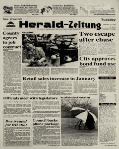 New Braunfels Herald Zeitung, February 14, 1989, Page 1