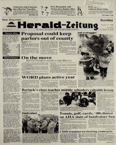 New Braunfels Herald Zeitung, February 19, 1989, Page 1