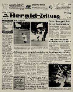 New Braunfels Herald Zeitung, May 12, 1989, Page 1