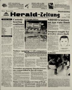 New Braunfels Herald Zeitung, May 17, 1989, Page 1