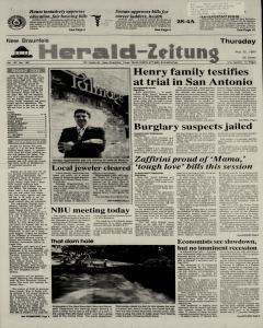 New Braunfels Herald Zeitung, May 25, 1989, Page 1