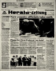 New Braunfels Herald Zeitung, January 02, 1991, Page 1