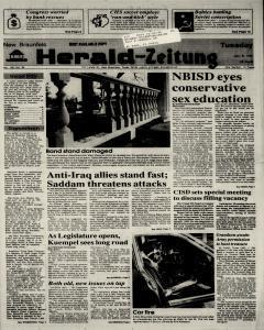 New Braunfels Herald Zeitung, January 08, 1991, Page 1