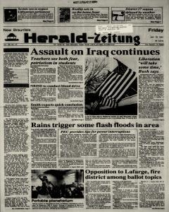 New Braunfels Herald Zeitung, January 18, 1991, Page 1