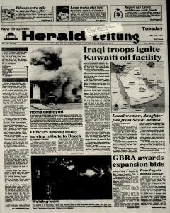 New Braunfels Herald Zeitung, January 22, 1991, Page 1