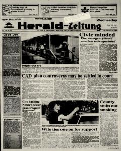 New Braunfels Herald Zeitung, February 13, 1991, Page 1