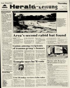 New Braunfels Herald Zeitung, May 09, 1991, Page 1