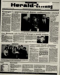 New Braunfels Herald Zeitung, January 06, 1993, Page 1