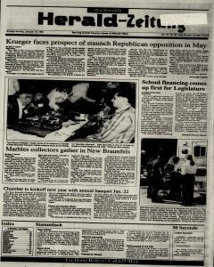 New Braunfels Herald Zeitung, January 10, 1993, Page 1