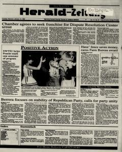 New Braunfels Herald Zeitung, January 19, 1993, Page 1