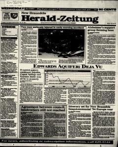 New Braunfels Herald Zeitung, February 16, 1994, Page 1