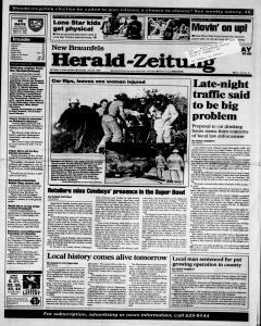 New Braunfels Herald Zeitung, January 29, 1995, Page 1