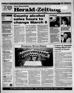 New Braunfels Herald Zeitung, February 10, 1995, Page 1