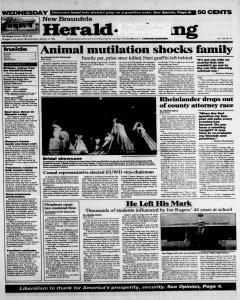 New Braunfels Herald Zeitung, January 10, 1996, Page 1