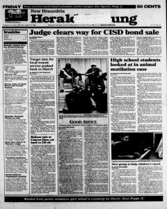 New Braunfels Herald Zeitung, January 12, 1996, Page 1
