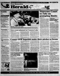 New Braunfels Herald Zeitung, February 15, 1996, Page 1