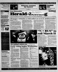 New Braunfels Herald Zeitung, February 18, 1996, Page 1
