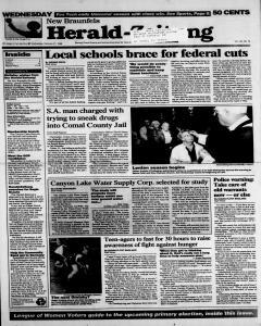 New Braunfels Herald Zeitung, February 21, 1996, Page 1