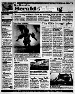 New Braunfels Herald Zeitung, May 29, 1996, Page 1