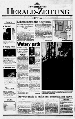 New Braunfels Herald Zeitung, January 10, 1999, Page 1