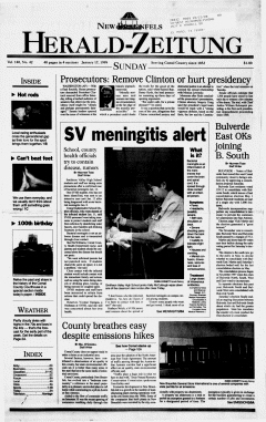 New Braunfels Herald Zeitung, January 17, 1999, Page 1
