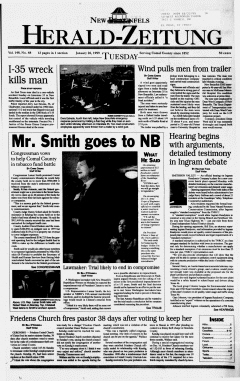 New Braunfels Herald Zeitung, January 26, 1999, Page 1