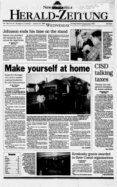 New Braunfels Herald Zeitung, January 27, 1999, Page 1