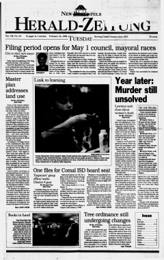 New Braunfels Herald Zeitung, February 16, 1999, Page 1